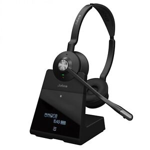 Jabra Engage 75 Stereo Headset Schwarz Kopfbügelhörer Stereo Basisstaion Black i