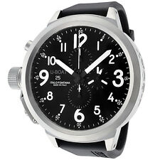 U-BOAT Men's 1247 Flightdeck Automatic Chronograph 55mm Black Dial Black Rubber