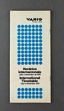 VARIG AIRLINE TIMETABLE SUMMER 1974 BRAZIL ROUTE MAP