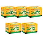5 Rolls Kodak TX 400-36 35mm Tri-X Pan Black and White Film