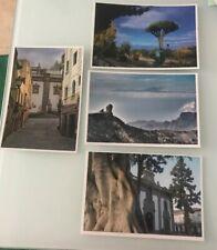 4 Tarjetas Prefranqueadas de Gran Canaria. Tarifa B (Europa). Enteropostales.