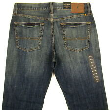 Lucky Brand Jeans Mens 361 Vintage Straight Leg Size 34 x 34 DARK BLUE WITH FADE
