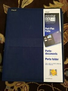 Mead Five Star First Gear Port-Pac Folio Includes 4 bound folders & inner pocket