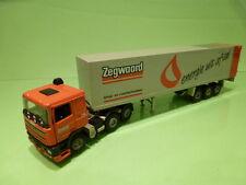 TEKNO HOLLAND DAF 95 380 ATI TRUCK + TRAILER - ZEGWAARD - ORANGE 1:50 - VG