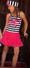 Nwt One Posh Kid Striped Bow Tutu Dress 6X