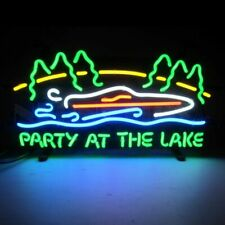 Junior Neon Sign Party At The Lake hand blown glass Neonetics 5SMLPL 19X10X3 NEW