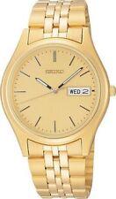 SEIKO Men's SGF526 Dress Gold Tone Stainless Steel Day & Date Quartz Watch