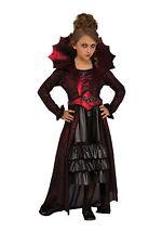 Girls Victorian Vampire Costume Dress Gothic Halloween Kids Size Small 4-6