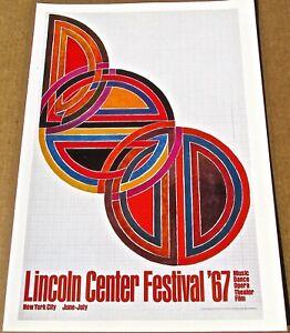 Frank Stella Mini-Poster for New York Film Festival  1967 16X11 LC