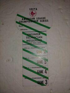 Vintage 1972 Baseball ALCS American League Engineer Technician Press Pass,Boston