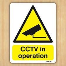 Cctv En Funcionamiento-Cámara advertencia pegatina 10 Cm X 13 Cm-Transparente Vinilo por stika.co