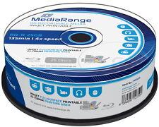 100 Mediarange Rohlinge Blu-ray BD-R full printable 25GB 4x Spindel