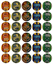 30 X Harry Potter Crests Cupcake Toppers Edible Wafer Paper Fairy Cake Toppers