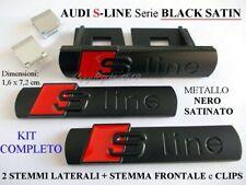 AUDI S-LINE BLACK NERO A1 A3 A4 TT S LINE KIT SET COMPLETO PACCHETTO Stemmi Logo