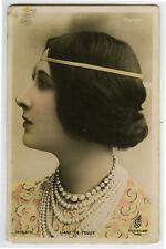 c 1910 French Theater Cabaret LIANE DE POUGY  Music Hall photo postcard.