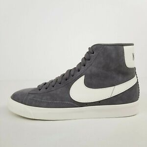 Nike Wmns Blazer Mid Vintage Suede Gray White 917862-004 Womens Size 7.5 No Lid