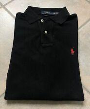Maglia T Shirt Polo Ralph Lauren Uomo/ Donna Nero Slim Fit Manica Lunga
