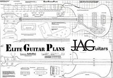 Luthiers Project Plan/Drawing for Left Handed Rikki R4001 Bass guitar P035