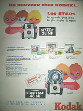 PUBLICITE DE PRESSE KODAK APPAREIL STARLET 28NF STARLASH FRENCH ADVERTISING 1956