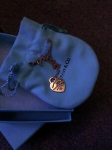 Tiffany & Co 18ct Return To Tiffany Sml Heart On 18 Inch Gold Chain