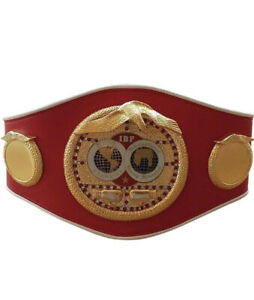 NEW  LEATHER IBF Boxing Championship Belt Adult Size Replica Adult Size