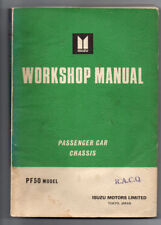 ISUZU PF50 CHASSIS Workshop Manual Service Repair sedan coupe gearbox body guide