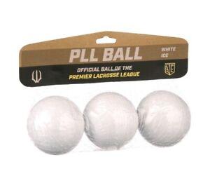 PLL Lacrosse Ball 3pk - White Ice