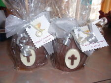 COMMUNION/CHRISTENING FAVORS-CHOCOLATE CARAMEL CANDY APPLES, FAVORS, CROSSES