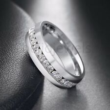 Mens White Gold Finish Diamond Engagement Wedding Fashion Band Pinky Ring 1/2 Ct