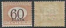 1925 LIBIA SEGNATASSE 60 CENT MH * - G064