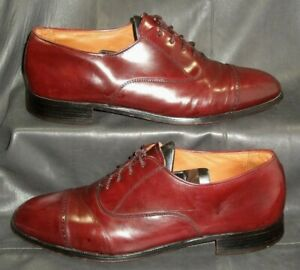 Bostonian Classics burgundy smooth leather cap toe oxford Men's shoes size US 8M
