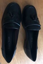 Women's Black Loafers w/Tassle, Leather, Brand New, Size 6 1/2 M - Reduced