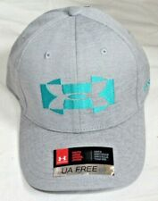 NEW Indian Wells Golf CA YOUTH Gray Teal Under Armour Baseball Hat Cap OSFA Kids