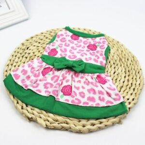 Spring Summer Dog Dress Dog Skirt Pet Clothes Puppy Dog Vest Cotton Dog Shirt