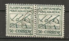 2376-SELLOS GUERRA CIVIL REPUBLICA LOCALES TRINCHERAS MONTCADA Y REIXAC 1937