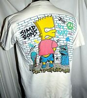 Vintage Bart Simpson shirt Don't Look for Trouble Simpsons  Fox TV Comedy Large
