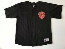 Rare Vintage Logo 7 Kerry Wood Chicago Cubs Black Baseball Jersey