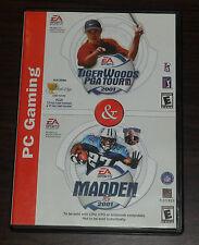PC CD. Tiger Woods PGA Tour 2001 / Madden 2001