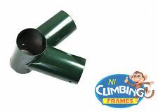 ONE NEW Swing Corner Round Bracket GREEN 100mm Wooden Climbing Frame 100 degrees