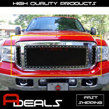 Ford Excursion F-250/ F-350 2005 2006 2007 Black Mesh Grille with Rivet studs