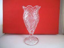 Vintage EAPG Clear Glass Celery Vase Spooner Bryce Higbee Beautiful Lady