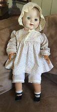 "Vtg 1950's Effanbee Baby Doll 28"" Tall*Noma Doll*Marek Original Clothes"