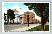 Reno NV, Washoe County Courthouse, Riverside Hotel, Vintage Nevada Postcard