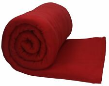 Betz Jumbo Fleecedecke Kuscheldecke Farbe dunkel Rot XXL Größe 220x240 cm