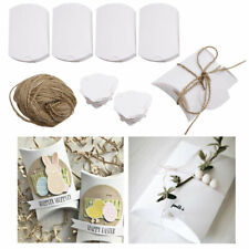 100Pcs Small White Pillow Box Paper Candy Favor for Wedding Party Gifts Sweets