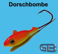 Meeresjig Dorschbombe 43g, 58g, 70g Jig 5/0 - 6/0 Bleikopf VMC Barbarian 5150 RD