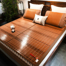 bamboo bed mat summer accessories folding double faces rattan queen king size