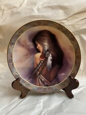 White Feather Collector Plate Native Beauty Lee Bogle 1994