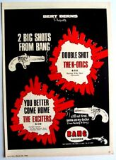THE K-OTICS EXCITERS 1966 Poster Ad DOUBLE SHOT bang YOU BETTER COME HOME