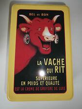 RARISSIME Boîte La Vache qui rit 20x13x7cm Jaune NEUF bel et bon rabier sucre